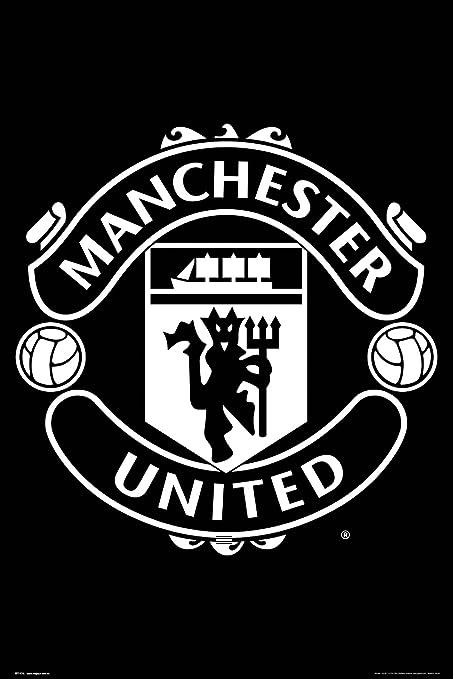 size 40 63217 646dd Amazon.com  Man Utd Crest 2017-2018 Poster 24 x 36in  Home   Kitchen