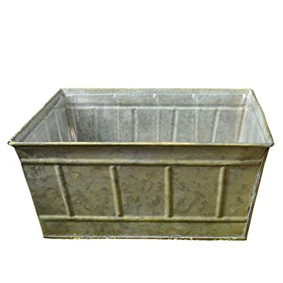 Avery Square Tin Planter for Flower, Herb or Miniature Garden: Home & Kitchen