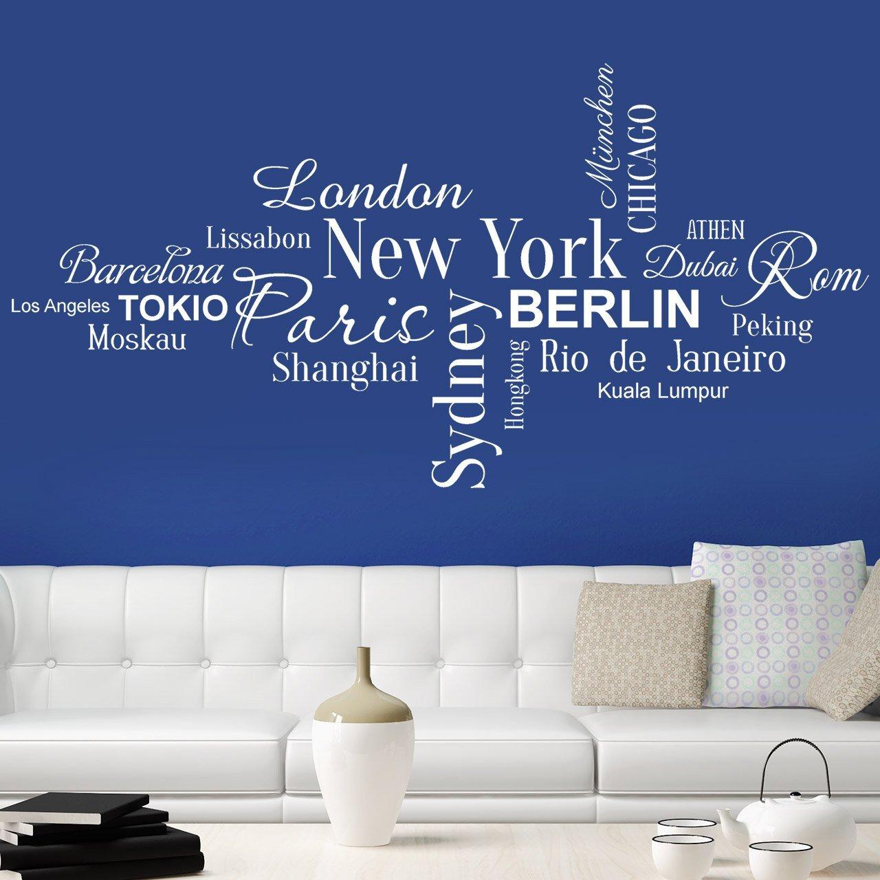 Bezaubernd Wandtattoo Berlin Sammlung Von Designscape® Weltstädte New York, Paris, Tokio, London,