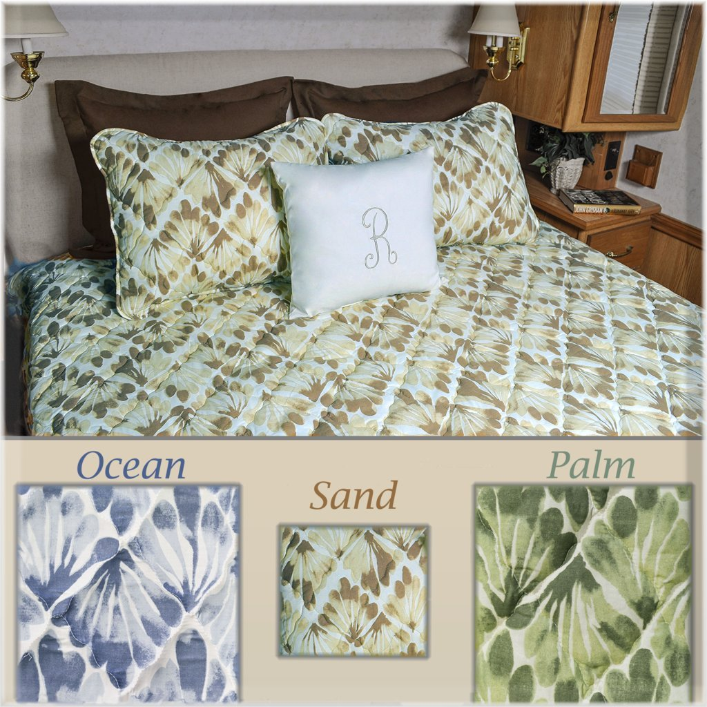 Short Queen RV Bedspread 3pc Set