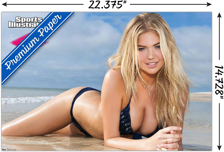 POSTER 24 X 36 Inches Looks beautiful Black Bikini KATE UPTON