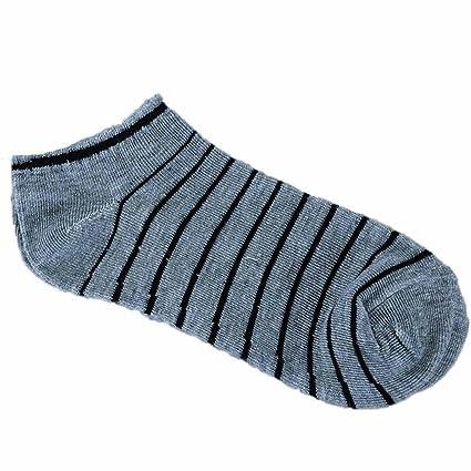 calcetines hombre invierno, Sannysis calcetines deportivos hombre Calcetín de algodón a rayas cómodo y unisex