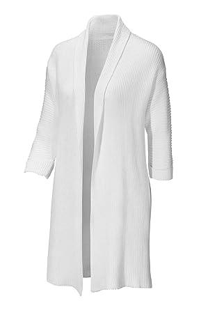 Ladies Cardigan Womens Long White Cotton in 10 3436: Amazon.co.uk ...