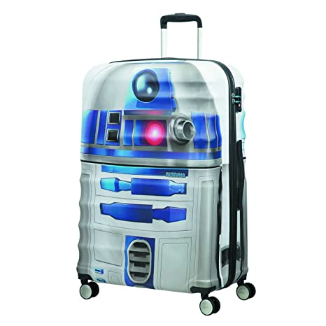 American tourister - Disney Wavebreaker Star Wars R2D2, Maleta Spinner 77/28, 77 cm, 96 L, 5.7 KG Multicolour (Star R2d2)