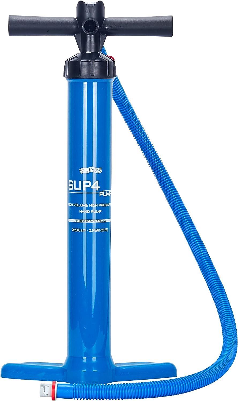 redder Leash /& Air Pump SUP4 10 ft 7 mm TPU Coiled Sup Leash//Bravo Dual Action Hand Pump SUP3