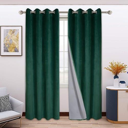 FLOWEROOM 100 Blackout Velvet Curtains