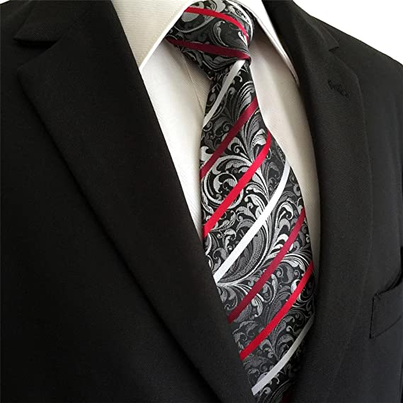 shlax&wing Nuevo Hombre Traje De Negocios Seda Corbatas Para Gris ...