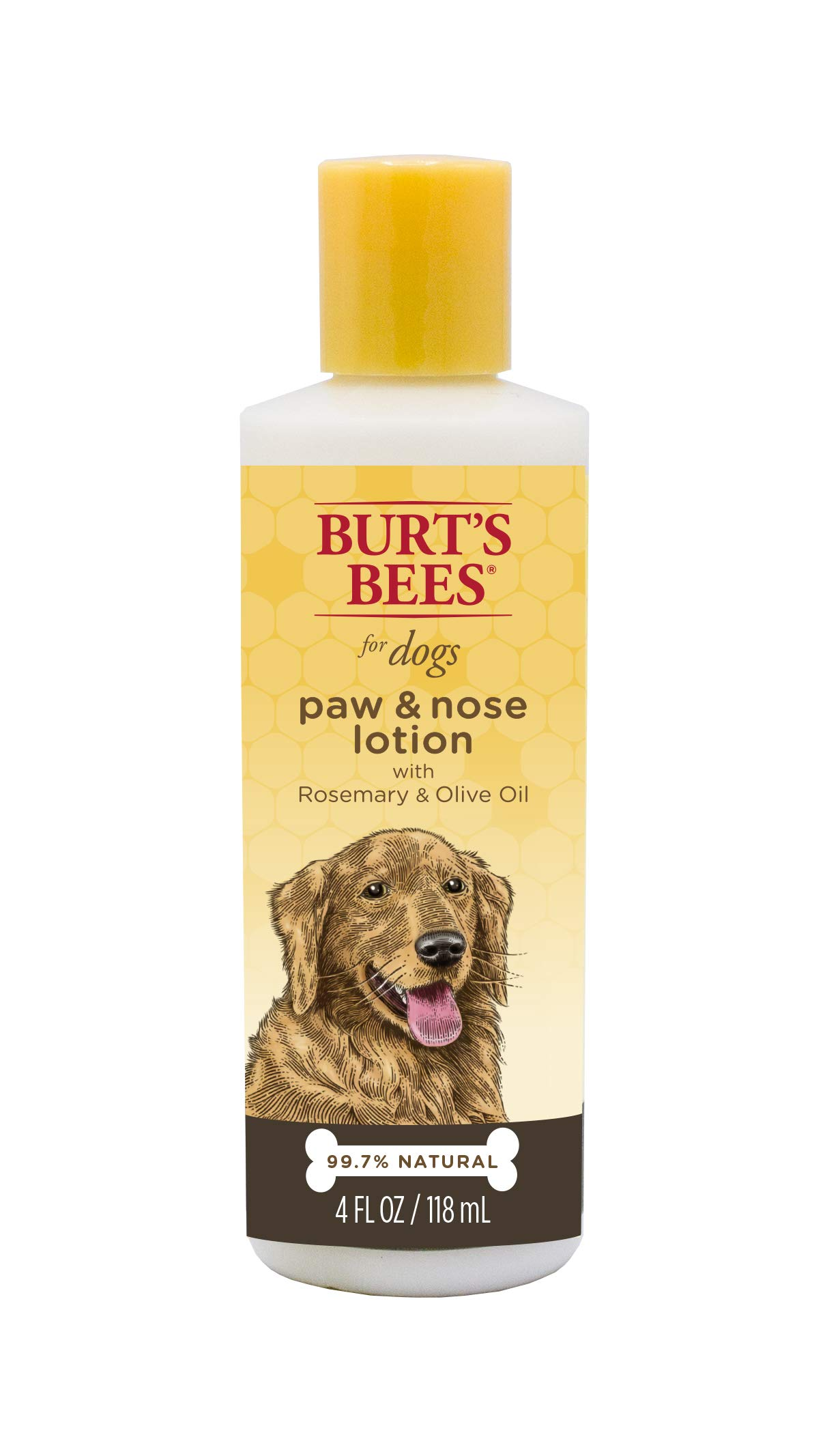 Burt's Bees for Dogs All-Natural Paw & Nose Lotion with Rosemary & Olive Oil | For All Dogs and Puppies, 4 Ounces - 2 Pack