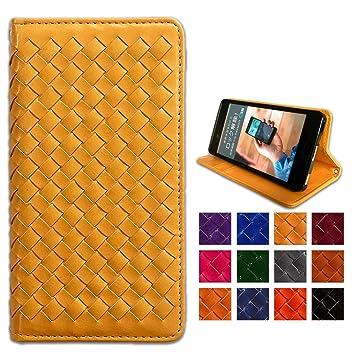 eef0929d93 Amazon | GALAXY feel2 SC-02L ケース 大人の雰囲気漂う 編み込み 手帳型 ...