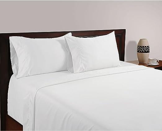 900 hilos (Blanco, Juego de sábanas cama de 4pcs, UK Double 135 x 190 cm (4 ft 6 in x 6 ft 3 in), Pocket Size 20 cm) 100% de algodón egipcio Calidad premium: Amazon.es: Hogar