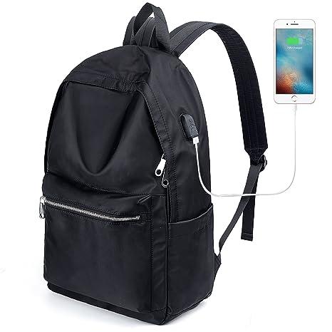 a58307ba57 UTO Zaino PC Zaino Porta PC Zaino Scuola Impermeabile Zaino per Computer  portatile Con Caricatore USB