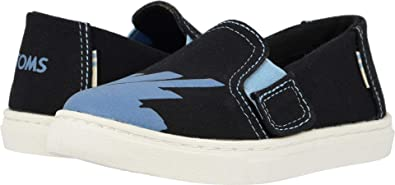5447b53c734 Image Unavailable. Image not available for. Color  TOMS Kids Baby Boy s Luca  (Toddler Little Kid) Black Canvas Glow in