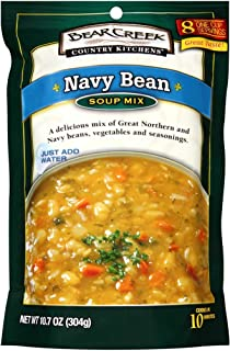 Bear Creek Country Kitchens Soup Mix Navy Bean 10 7 Ounce Pack Of 6