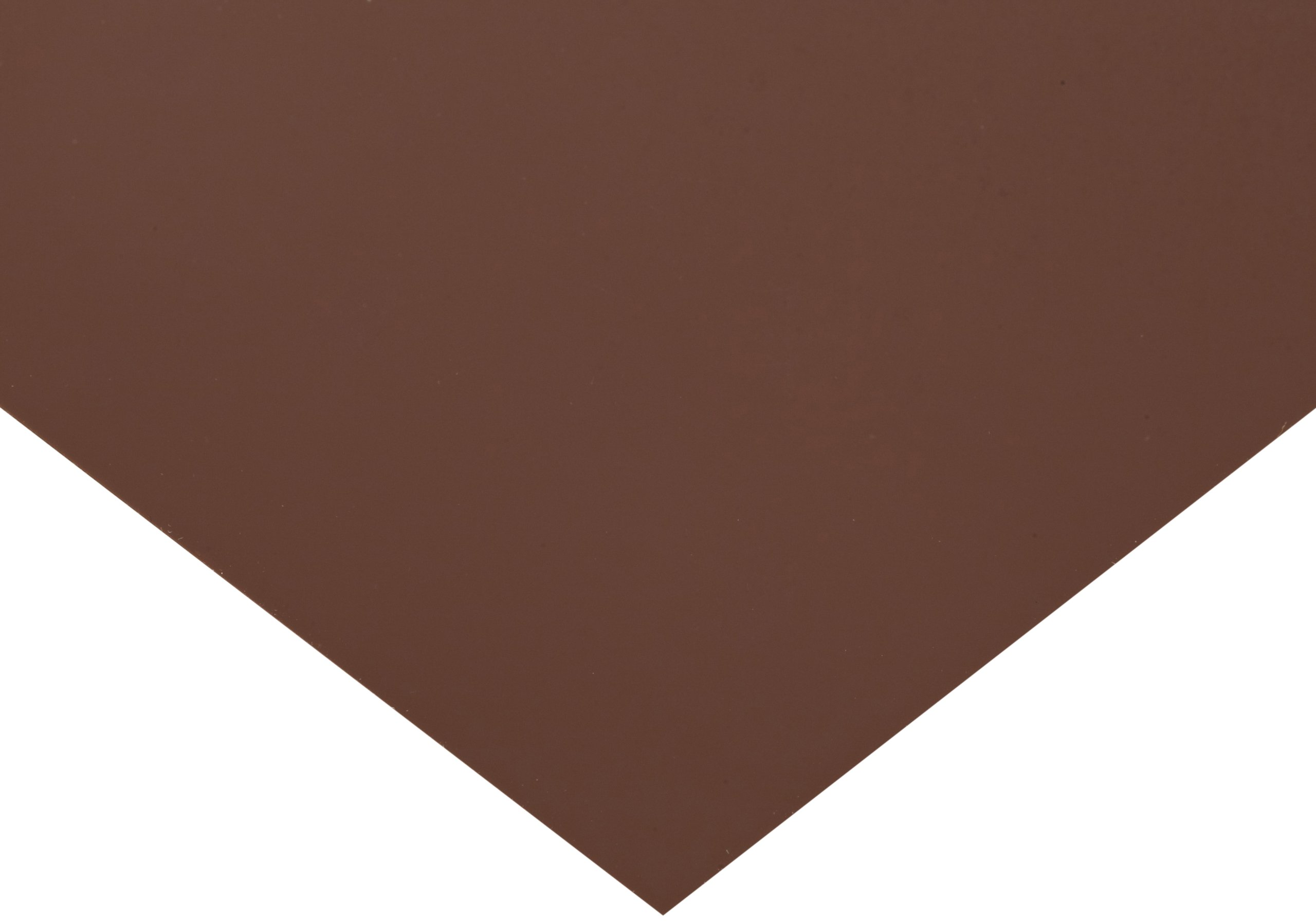 PVC (Polyvinyl Chloride) Shim Stock, Flat Sheet, Brown, 0.010'' Thickness, 5'' Width, 20'' Length (Pack of 10) by Small Parts