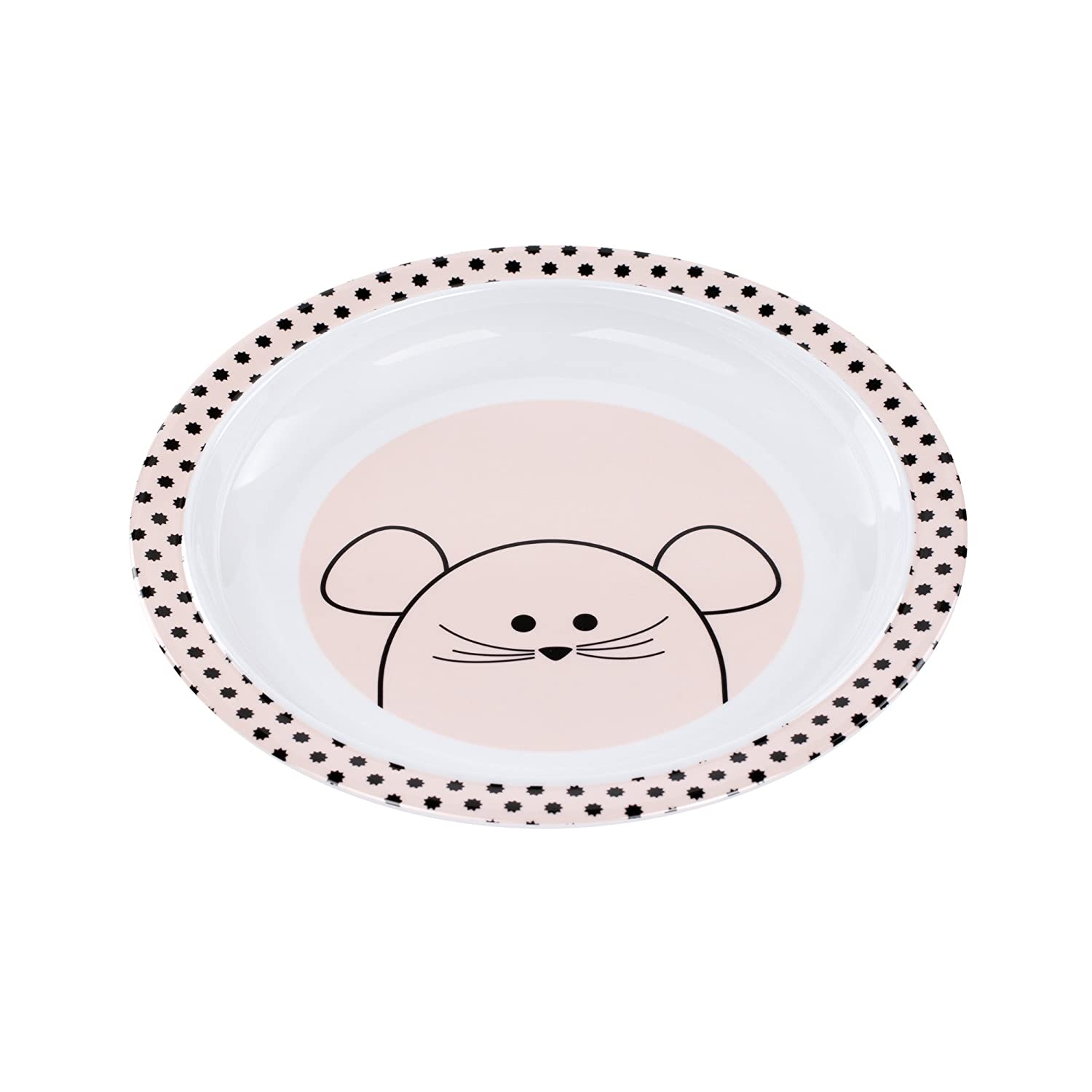 Lassig Kids Plate with Silicone, Mouse Lassig Baby 1310009725