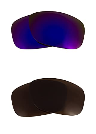 22727ceaee Image Unavailable. Image not available for. Color  TWOFACE Replacement Lenses  Bronze Brown   Purple by SEEK fits OAKLEY Sunglasses