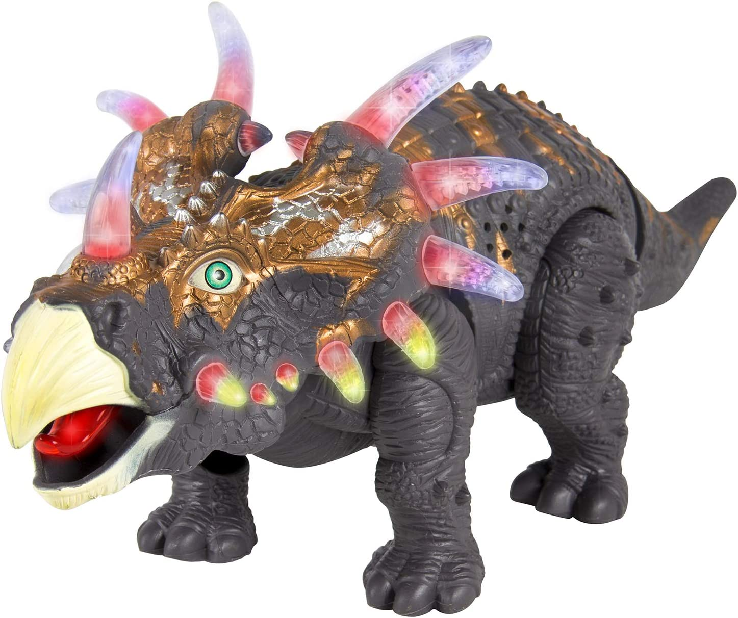 Jurassic World Triceratops Dinosaur Action Figure with Sound and Light-Up Eyes