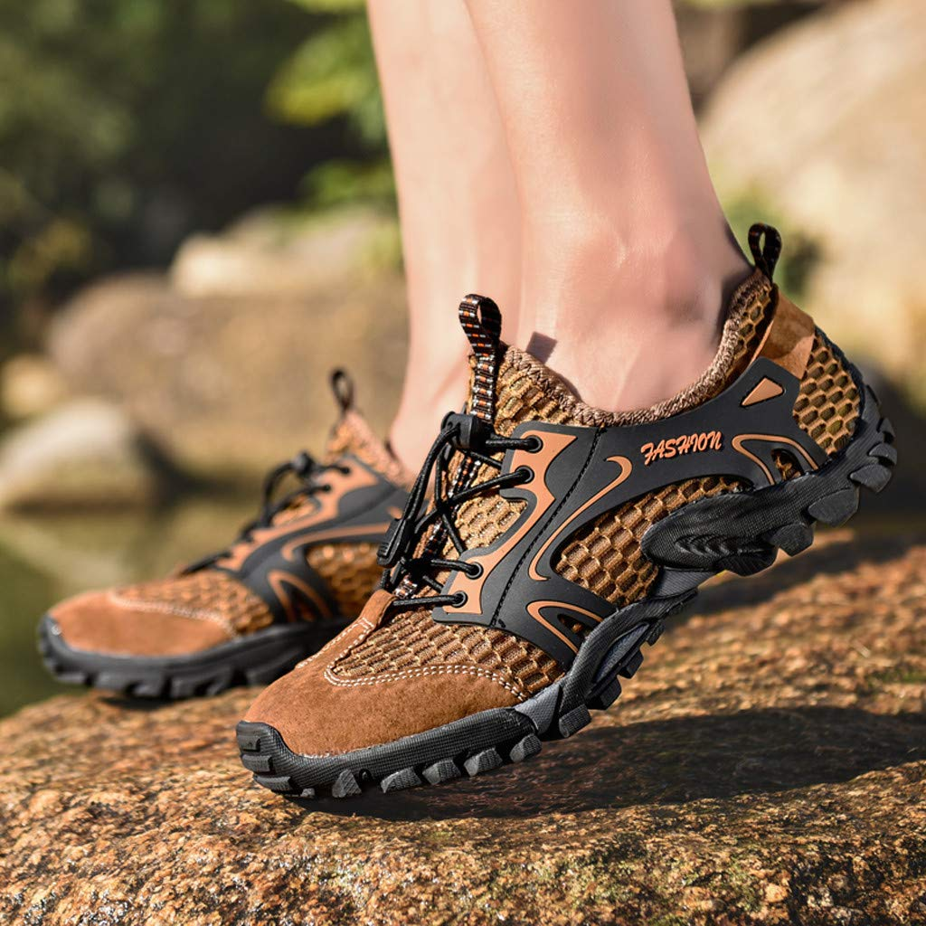 Chomile Herren Outdoor Wandern Schuhe Atmungsaktives Netzgewebe Licht Schnell Trocknend Schuhe