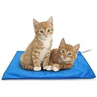 Almohadilla de calefacción para mascotas, gato y perro, almohadilla eléctrica de calefacción para interior impermeable…