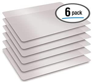 "Extra Thick Flexible Frosted Clear Plastic Cutting Mats, 12"" x 18"", Set of 6, by Better Kitchen Products"