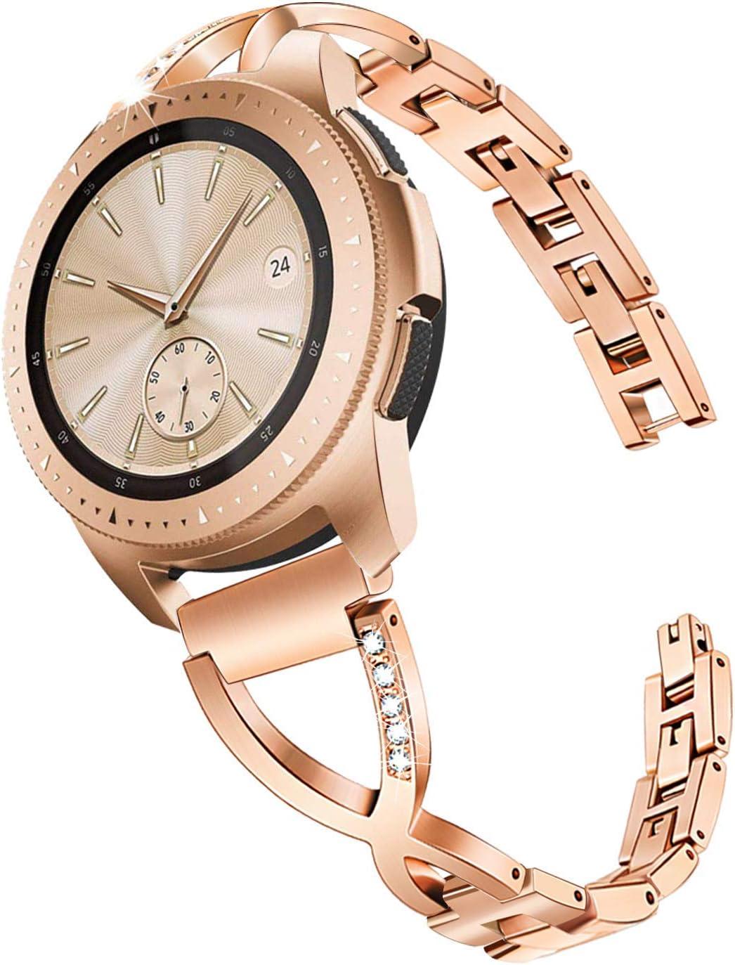 TRUMiRR para Galaxy Watch 42mm Bandas de Mujer, Pulsera de Acero ...