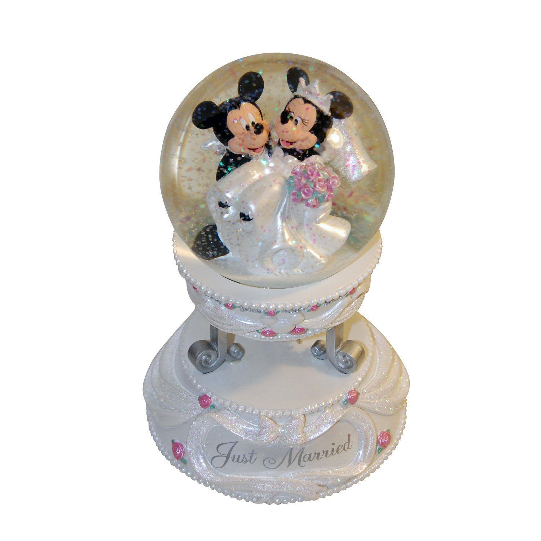 Amazon.com: Disney Mickey and Minnie Wedding Musical Snow Globe ...