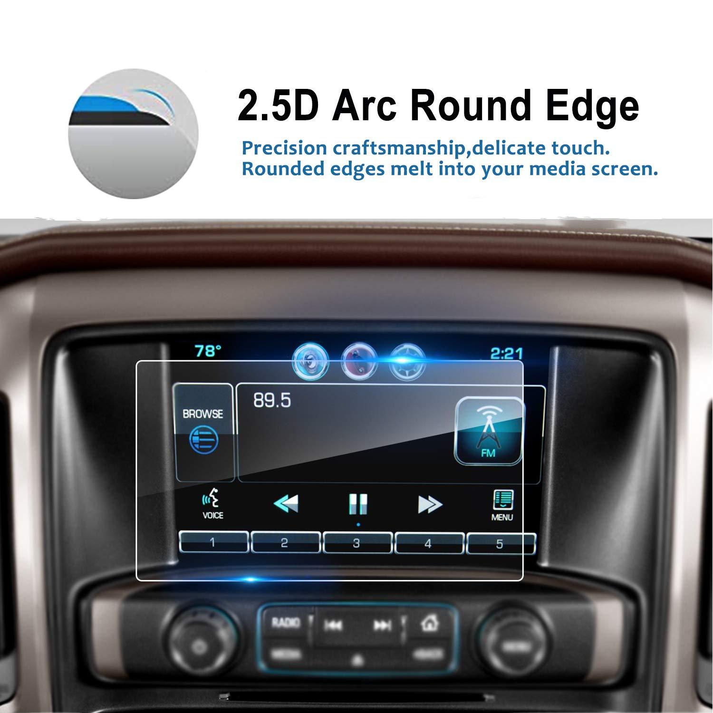 LFOTPP 8 Inch 2014-2018 Chevrolet Silverado 1500 2500HD 3500HD 8 Inch LTZ MyLink Car Navigation Screen Protector, [9H] Tempered Glass Infotainment Center Touch Display Guard