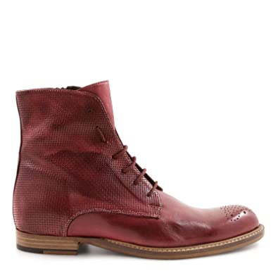Damen 2162Tmoro Braun Leder Stiefeletten Leonardo Shoes MKSfyT
