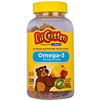 L'il Critters Omega-3 Gummy Fish Assorted Flavors - 120 ct, Pack of 3