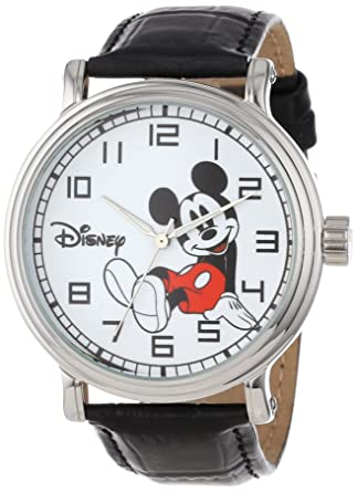 Mickey Mouse Watch Value >> Amazon Com Disney Men S W000531 Mickey Mouse Vintage Watch Watches