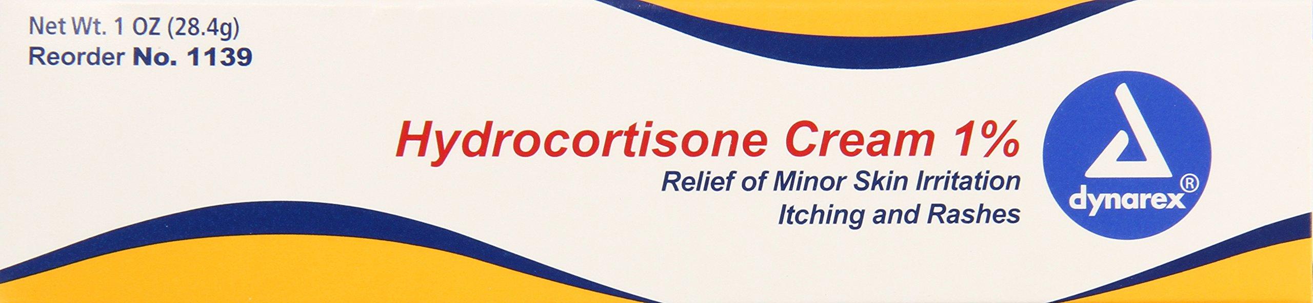 Dynarex Hydrocortisone Cream 1%, 1 oz Tube, 72-Count