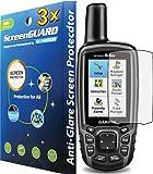 3x Garmin GPSMAP 62 62s 62sc 62st 62stc 64 64s 64st GPS Premium Anti-Glare Anti-Fingerprint Matte Finishing LCD Screen Protector Cover Guard Shield Protective Film Kits (Package by GUARMOR)