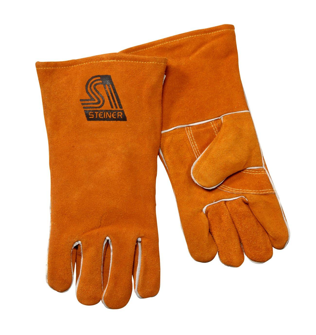 Steiner 2119Y-3X Welding Gloves, Brown Y-Series Shoulder Split Cowhide, Foam Lined Back, 3X-Large (12-Pack)