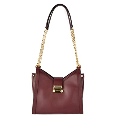 94e61e87d Michael Kors Whitney Small Leather Shoulder Bag: Handbags: Amazon.com