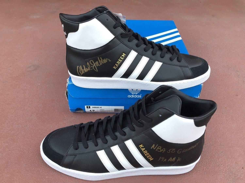 Kareem Abdul Jabbar Autographed Signed Adidas NBA 50 Greatest Shoes Bas Beckett Itp Coa