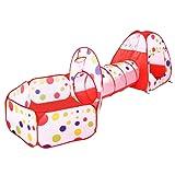 BATTOP Pop Up Tunnel Tente des enfants Maison de Jouet et Piscine à balles -3pices