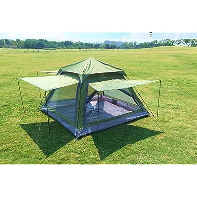 ZC&J Extérieur adapté pour 2-3 personnes pour utiliser la tente, le camping camping les tentes de loisirs de plage, les quatre côtés de la ventilation de ventilation du réseau et anti-mou