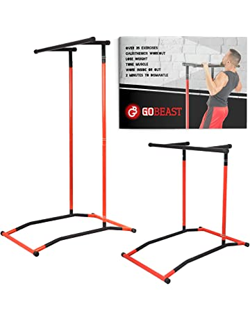 GoBeast Power Tower Pull-up bar Dip Stand Portable Pull up Station Movable Exercise Equipment