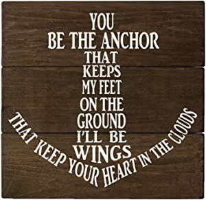Elegant Signs You be The Anchor Wall Decor Wood Sign