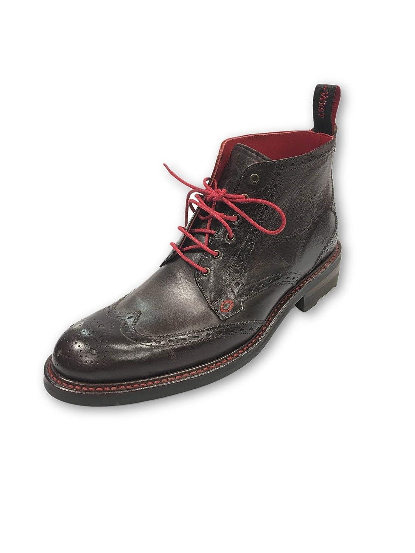 - Jeffery West Baker Street Moriarty Ankle Boots in Dark Size 7 Leather