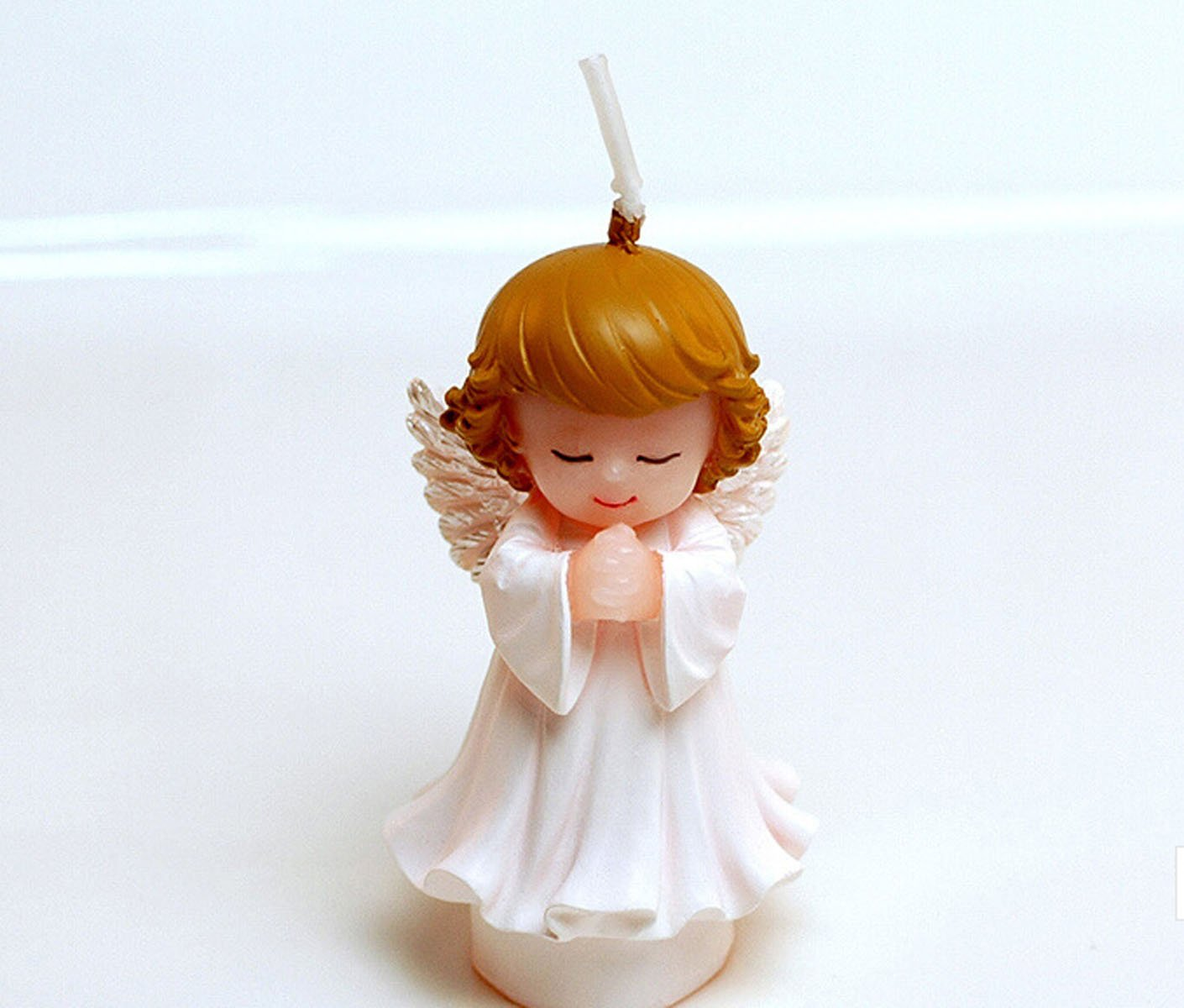 Cartoon Girl Angel Charming Gifts Party Candles Smokeless Candles Birthday Candles for Baby Shower and Wedding Favor Keepsake Favor (5)