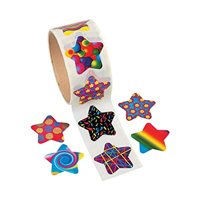 Fun Express Funky Star Stickers (100PC) - Stationery - 100 Pieces: Toys & Games