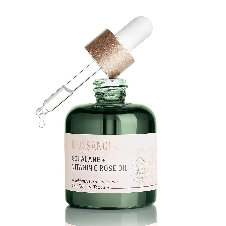 BIOSSANCE SQUALANE + VITAMIN C ROSE OIL 1oz/30mL ビオッサンス スクワラン+ビタミンCローズオイル B07SFLY2W4