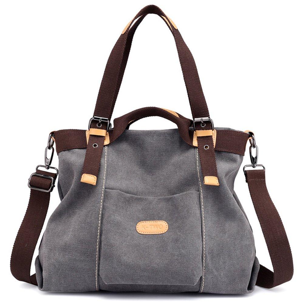 Z-joyee Women Shoulder bags Casual Vintage Hobo Canvas Handbags Top Handle Tote Crossbody Shopping Bags by Z-joyee