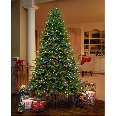 Amazon.com: GE 7.5 ft Artificial Aspen Fir Pre-Lit LED Easy Light ...