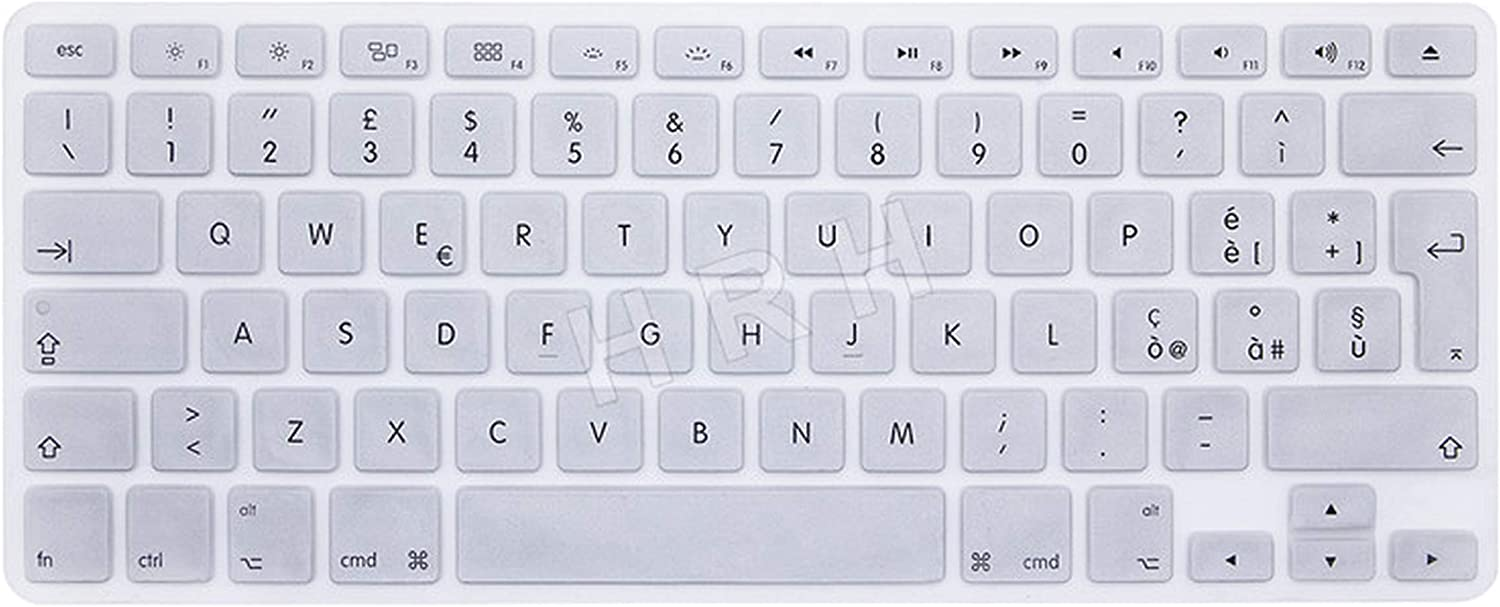 Italian Slim Language Silicone EU Keyboard Skin Cover Protector Compatible for MacBook Air Pro with Retina 13 15 17 Aluminum