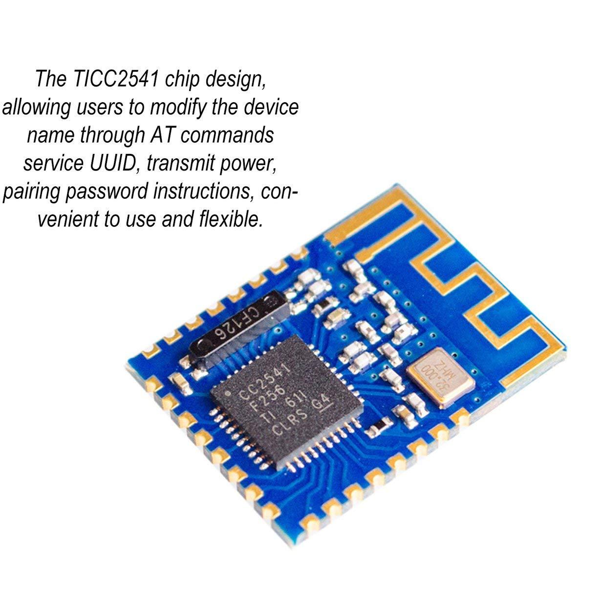 Comomingo JDY-08 4.0 M/ódulo CC2541 Maestro-Esclavo inal/ámbrico para Airsync iBeacon Azul