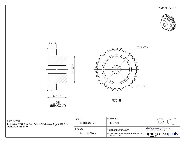 Boston GearW713 W//G RATIO 30-1 J XW713-2-30