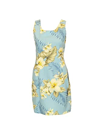 4aae6bb6bbc Hawaiian Dress Made in Hawaii Tank Hibiscus Trend Relaxed Fit at Amazon  Women s Clothing store