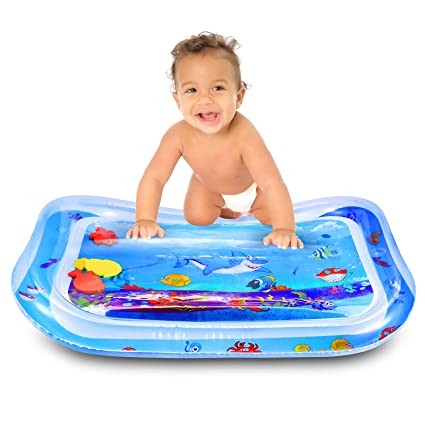 Amazon Com Skl Baby Water Play Mat Inflatable Baby Water Mat Toys